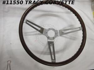 1967 1968 Corvette 9778079 Original Simulated Wood Grain 3 Spoke Steering Wheel