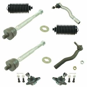8 Piece Steering Suspension Kit Inner Outer Tie Rods W Bellows Ball Joints