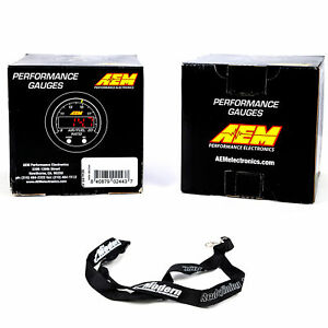 Aem 300f 52mm Oil Trans Water Temperature Coolant Wideband Afr Gauge Kit