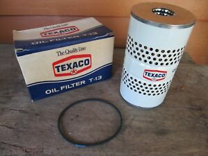 Nos 1956 1957 Chevy Vintage Texaco T13 Ac Pf131 Oil Filter