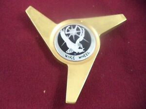 La Wire Wheels Spinner Gold Black Logo Custom Wheel Center Cap 1 Cap