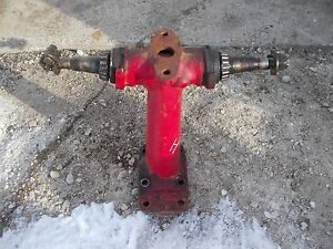 Farmall H Tractor Front Pedestal Spindle Shafts For Hubs To Tractor