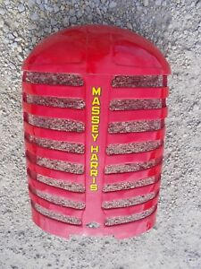 Massey Harris 33 Tractor Orignal Mh Front Nose Cone Grill Radiator Hood Cover