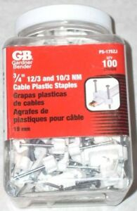 100 Gardner Bender Ps 175zj 3 4 Electrical Wire Staples Cable Straps 12 3 10 3
