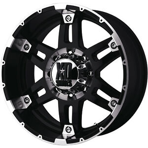 18x9 Black Xd Xd797 Spy 6x5 5 12 Rims Nitto Trail Grappler 285 65 18