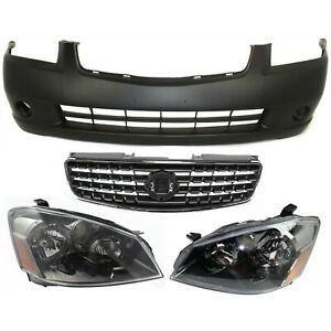 Bumper Cover Kit For 2005 2006 Nissan Altima Front Sedan 4pc