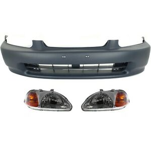 Auto Body Repair For 1996 1998 Honda Civic Front Bumper Cover Headlight