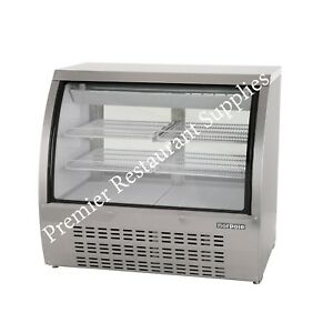 Refrigerated Display Deli Bakery Case Curved Glass 48 Brand New 3 Yr Warranty