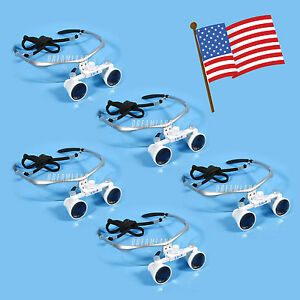 5x Dental Surgical Binocular Magnifier Loupes glasses 3 5x 420mm Silver Yajo