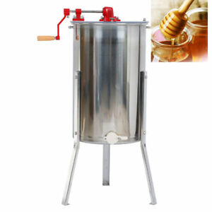 2 Frame Honey Extractor Stainless Steel Beekeeping Equipment Outdoors Bee Food