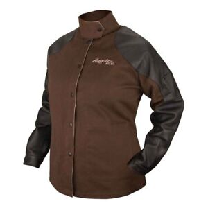 Black Stallion Angelfire Bw9c ps Women s Welding Jacket W Leather Sleeves Xs xl