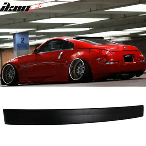 Fits 03 08 Nissan 350z Rs Style Unpainted Roof Spoiler Wing Abs