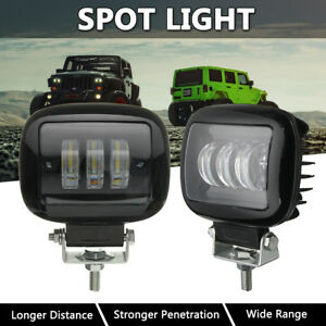 2x 4 5 Inch Round Led Work Light Fog Spot Motorcycle Bicycle Truck Driving Bar