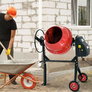4 4cu Ft 3 4hp Portable Electric Cement Concrete Mixer For Mortar Stucco Seeds