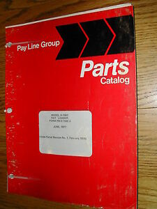 International Hough H 100c Parts Manual Book Catalog Wheel Pay loader Guide List