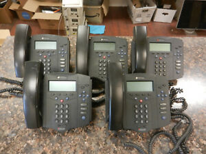 Lot Of 5 Polycom Ip430 Voip Phones 2201 11402 001 W handsets And Stands