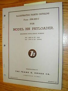Hough Hh c Parts Manual Book Catalog Wheel Payloader Guide List International