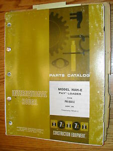 International Hough Hah e Parts Manual Book Catalog Wheel Payloader Guide List