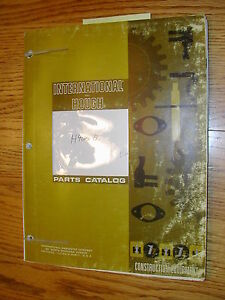 International Hough H 400b Parts Manual Book Catalog Wheel Pay loader Guide List