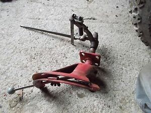 Ford 8n Tractor 3pt Hitch Control Lever Mounting Bracket W Linkage