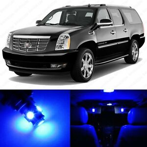16 X Blue Led Interior Light Package For 2007 2014 Cadillac Escalade Tool