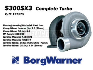 Borg Warner S300sx3 Turbo T4 0 91 A R 66mm Inducer 320 800hp