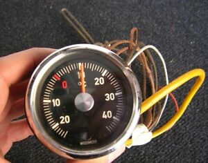 Motometer Vintage Car Thermometer Dash Gauge Thermo Autothermometer Moto Meter