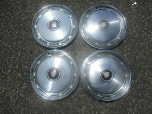 Genuine 1974 To 1984 Buick Lesabre Estate Wagon Hubcaps Wheel Covers Set