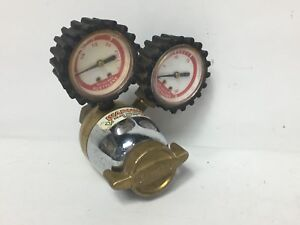 Uniweld Rmc2 Acetylene Regulator 400 Psi Max R Ser 2 Gauge Mc Tank Brass Valve