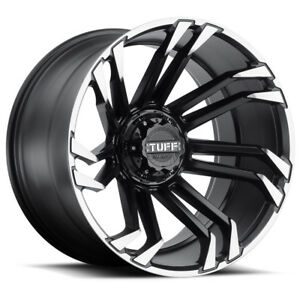 4 20 Inch Tuff T 21 20x10 6x5 5 19mm Black Machined Tint Wheels Rims