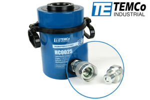 Temco Hollow Hydraulic Cylinder Ram 60 Ton 2 In Stroke 5 Year Warranty