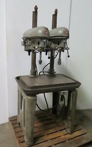 Delta Rockwell 2 Head Spindle Multi Drill Press Heavy Duty Vintage Metal Table