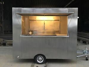New Stainless Steel Concession Stand Trailer Mobile Kitchen Free Sea Shipping