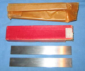 Starrett 2pc 384 c 384c Steel Parallels 3 16 X 7 8 X 6 New In Box