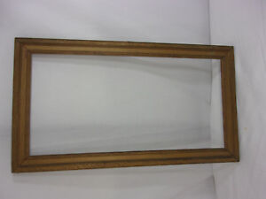 Vintage Mission Style Arts Craft Wavy Bronze Gilt Picture Frame 23 X 13