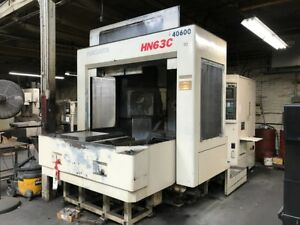 Used Niigata Hn63c Cnc Horizontal Mill 1994 Fanuc Fourth Axis Box Ways Gearbox