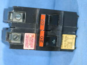 New Fpe Federal Pacific Stab lok 2 Pole 20 A Circuit Breaker Na220 Hacr New