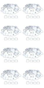 800 White Puff Pad Earring Cards Jewelry Display 1 X 1