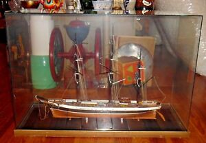 Tabletop Glass Display Case 36 X 15 25 Tall Great For Ship Model
