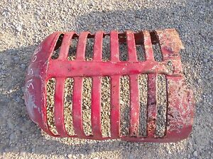 Massey Harris 44 Tractor Orignal Mh Front Nose Cone Grill Hood Radiator Cover