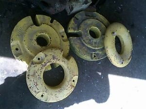 John Deere M Tractor Set Of Original Jd Rear Wheel Weights M343t