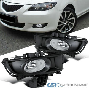 07 09 Mazda 3 Sedan 4dr Replacement Clear Fog Lights Driving Bumper Lamps Switch
