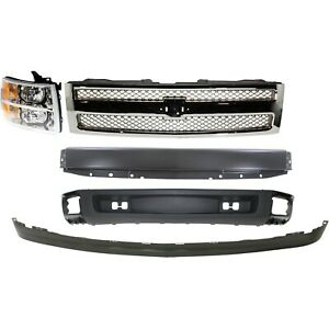 Bumper Kit For 2007 2013 Silverado 1500 Front With Emblem Provision 5pc