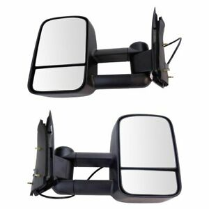 Towing Mirror Power Textured Black Pair For Ford F150 F250ld Pickup Truck New
