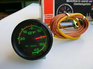 Motometer Thermometer Thermo Gauge Vintage Nos