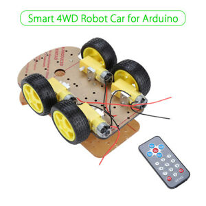 Multi functional Smart Robot Car Tracking Motor Gear Chassis Kit 4wd For Arduino