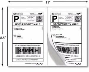 2000 Shipping Labels 8 5x5 5 Rounded Corner Self Adhesive 2 Per Sheet