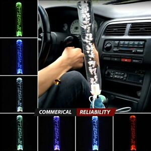 Jdm Crystal Bubble Universal Manual Gear Shift Knob Long Stick 12 Multi Color