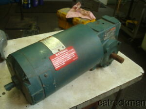 Reliance 3 4 Hp Dc Gearmotor W 50 1 Right Angle Reducer
