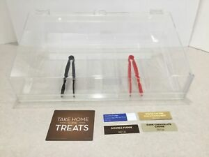 Acrylic Counter Top Cookie Pastry Display Merchandiser W Tray Hinged Door